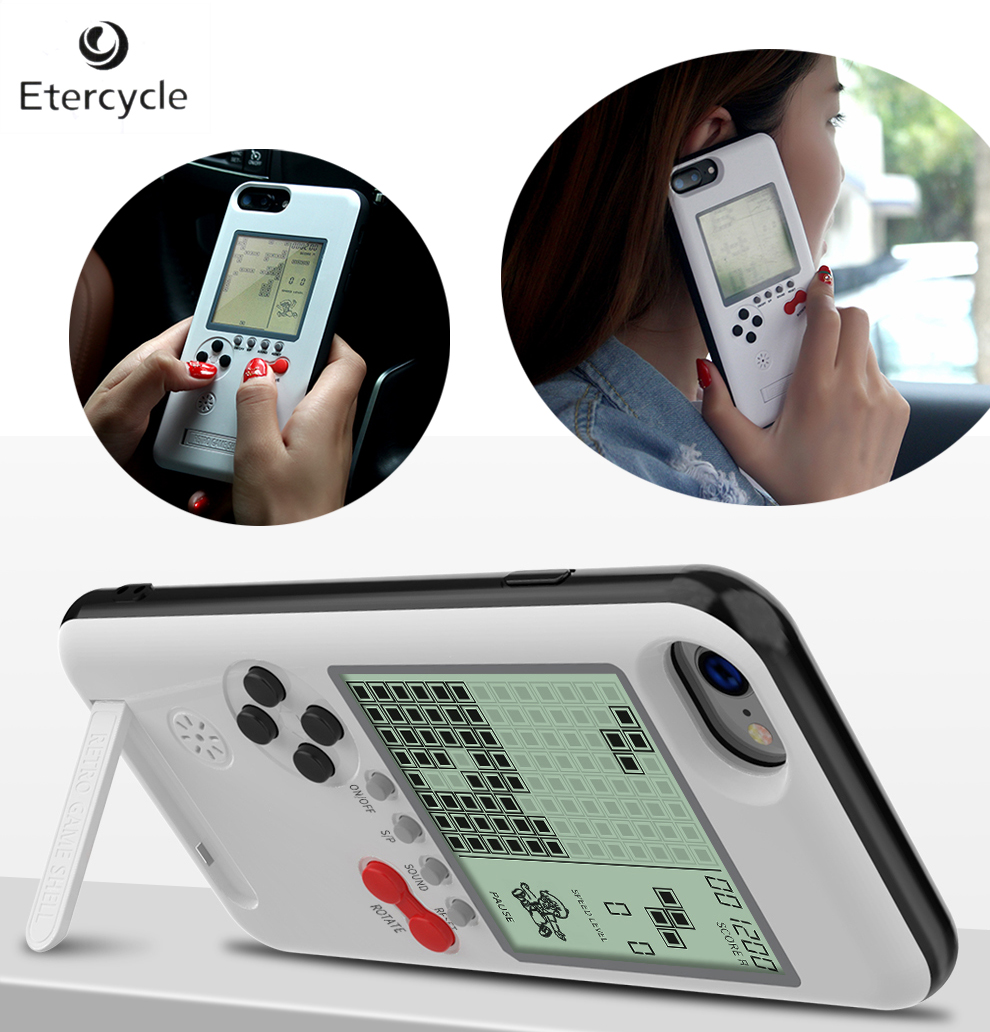 New Style Game Boy Tetris Phone Case With Bracket Can Play