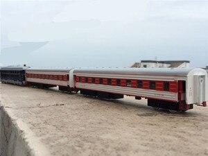 Image 4 - 높은 시뮬레이션 기차 model.1: 87 규모 합금 다시 더블 기차, 여객 구획, 금속 장난감 자동차, 무료 배송