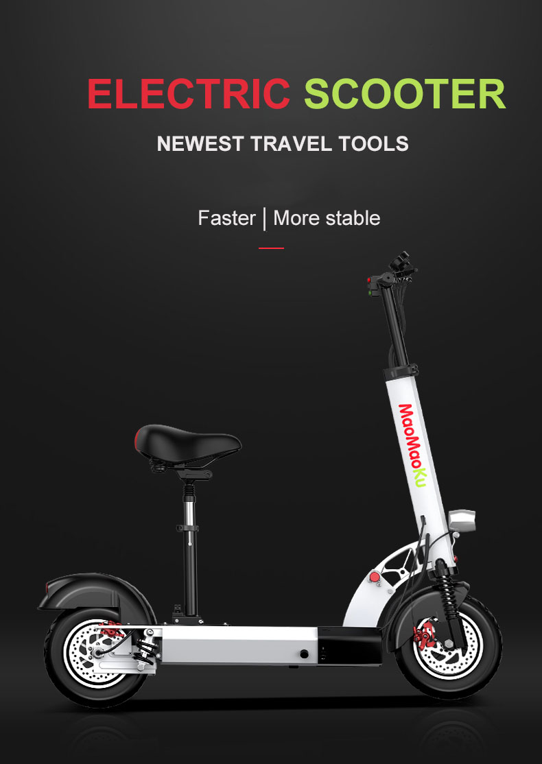 HTB1nho9p93PL1JjSZFxq6ABBVXaH - 10inch electric scooter 48V lithium battery electric bicycle 500w high speed 100km range sctooer  max speed 45-50km/h