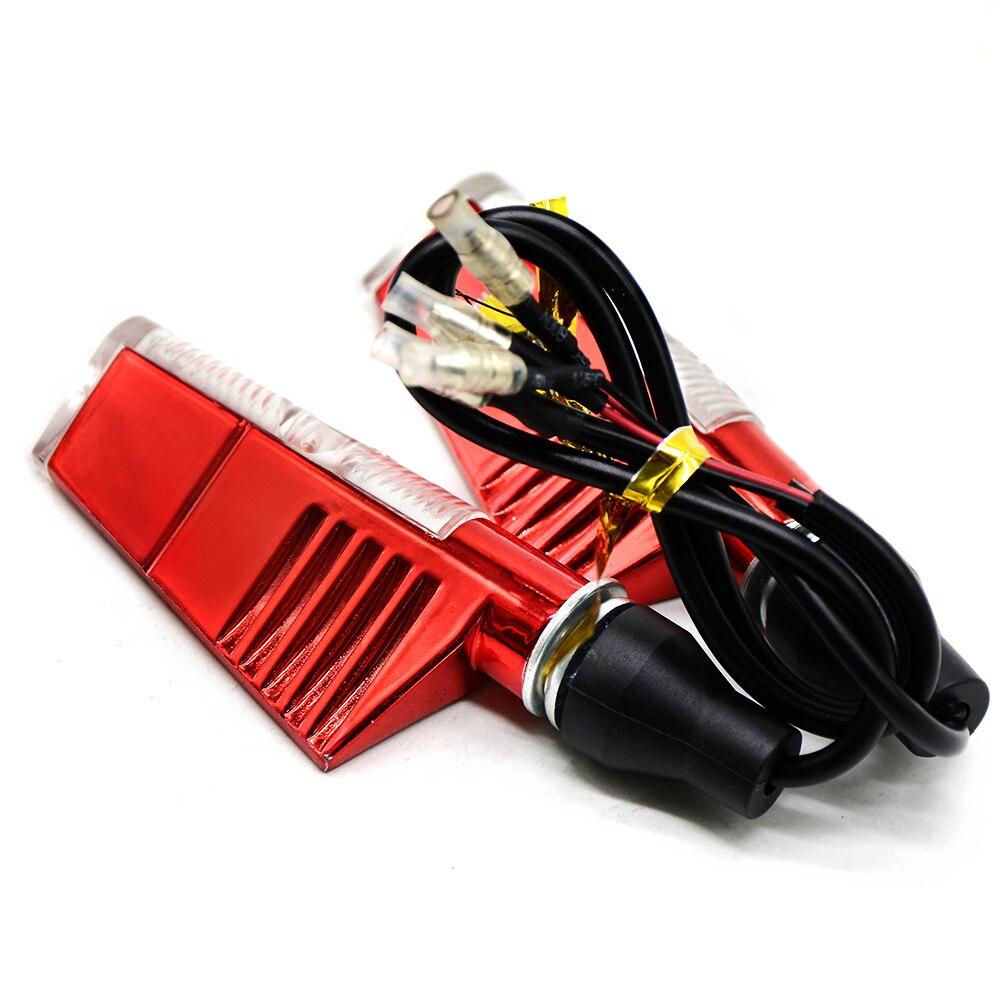 Universal moto Motorcycle Sportster LED Turn Signals Indicators Flashing Blinker for honda VFR750 VF750S SABRE CBF1000 CBR900RR