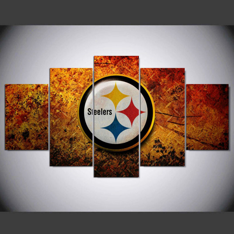 5 Panel Pittsburgh Steelers Poster Hd Print Canvas Painting Picture Modern Home Decor Wall Art Picture For Living Room W 1280