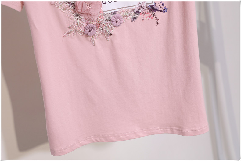 3D Flowers Stylish T Shirts 12