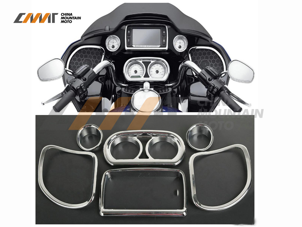 ФОТО Inner Fairing Speedometer Radio Speaker Trim Kit case for Harley Road Glide 2015-2017