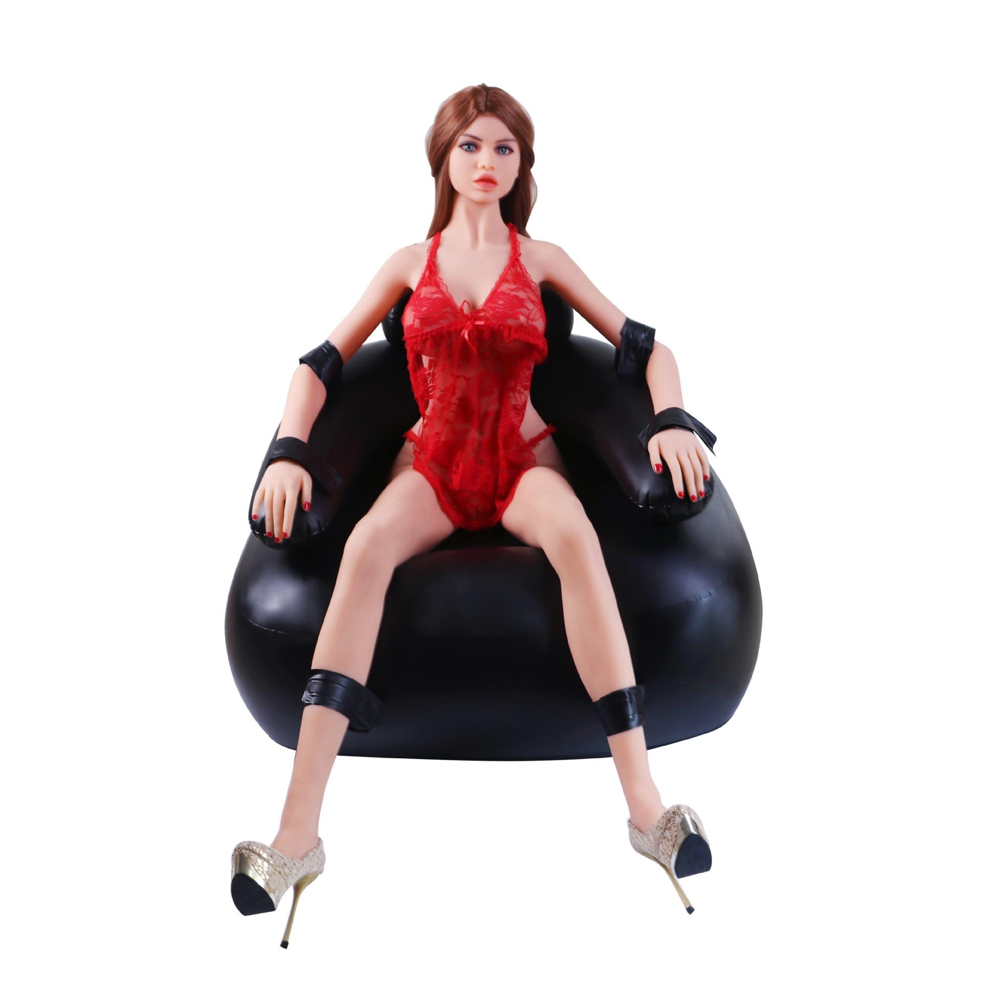 Sofa gonflable de sexe pour le Couple, type érotique de bondage de bdsm chaise gonflable de meubles gonflables de sexe de masturbation avec le pénis