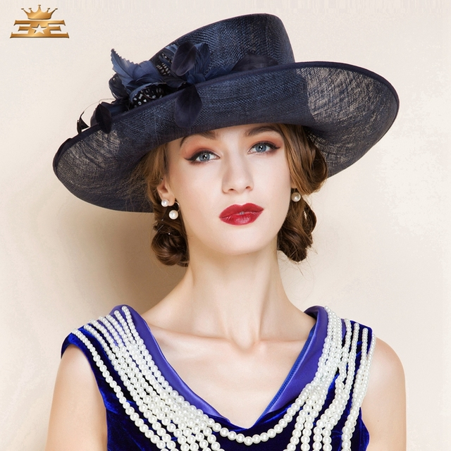 Ladies  Lovely Spring Summer Cambric With Bowler Cloche Hat Women s Summer  new fashion hat for women1075 6e7f68ff95b