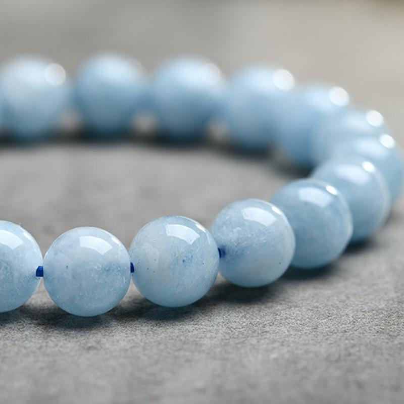 HTB1nhoQplsmBKNjSZFFq6AT9VXar Natural Aquamarine Bracelet Single Circle Crystal Bracelet Jewelry 6-10mm Beads Romantic Casual Crystal Yoga Bracelet