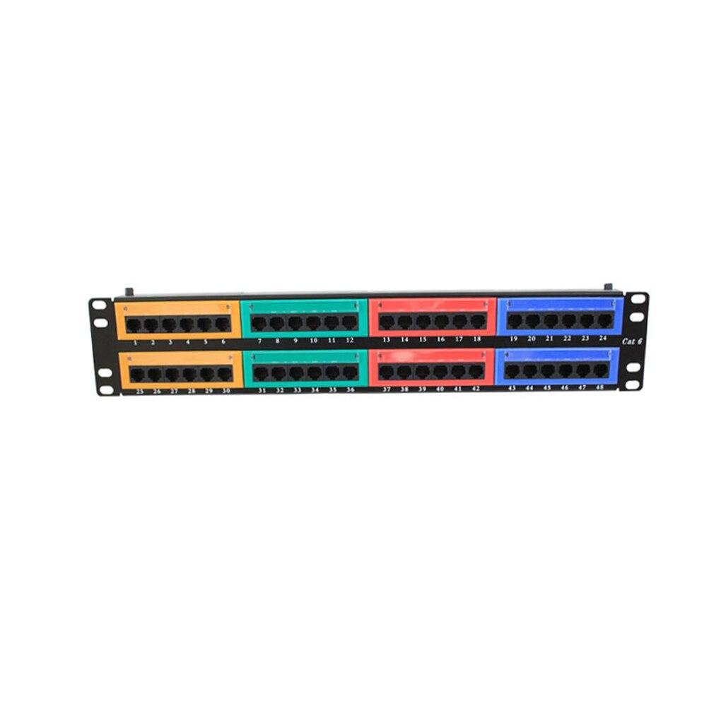 IMice 48 Ports Cat6 cadre de Distribution coloré montage mural rack panneau de brassage Ethernet câble Ports réseau