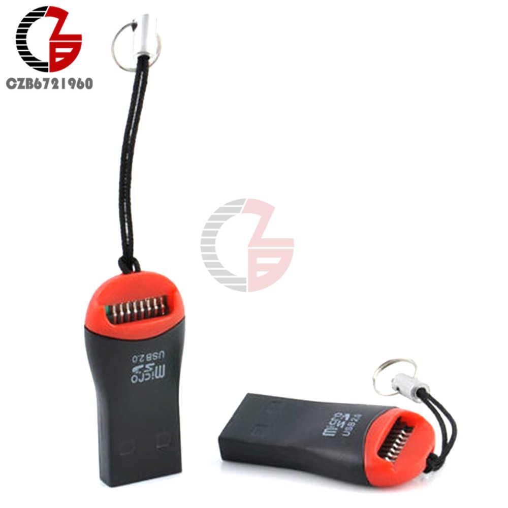 2 قطعة USB 2.0 صغيرة مايكرو SD SDHC TF فلاش بطاقة الذاكرة محول قارئ عالية السرعة لأجهزة الكمبيوتر المحمول 0.35