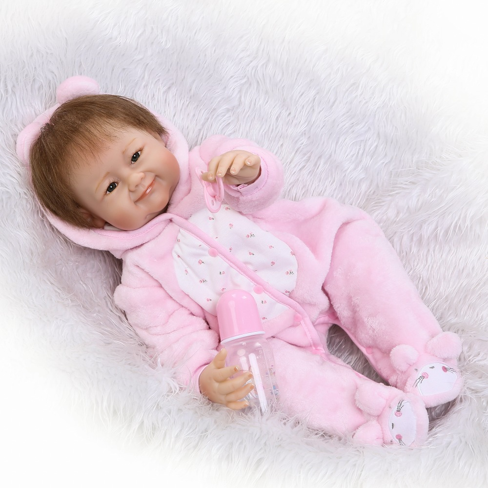 22 NPK reborn silicone babies dolls smiling girl toy bebe alive newborn reborn dolls kids lovely birthday gift bonecas22 NPK reborn silicone babies dolls smiling girl toy bebe alive newborn reborn dolls kids lovely birthday gift bonecas