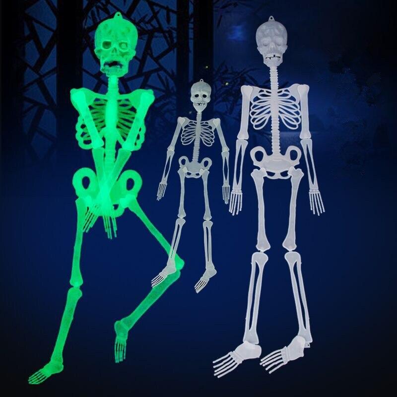 90 см Хэллоуин Декоративный Скелет бар КТВ ужас светящийся скелет светящиеся предметы интерьера игрушка сюрприз подарок