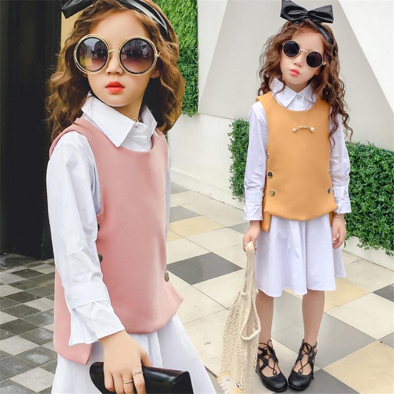 Teenage girls clothing set kids tracksuit for girls sport suit school uniform girls clothes autumn vest shirt children clothes