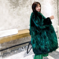X Long Overcoat Ladies True Genuine Real Raccoon Fur Coat Factory Outlet Wholesale Price Discount Plus Size Customize ksr373