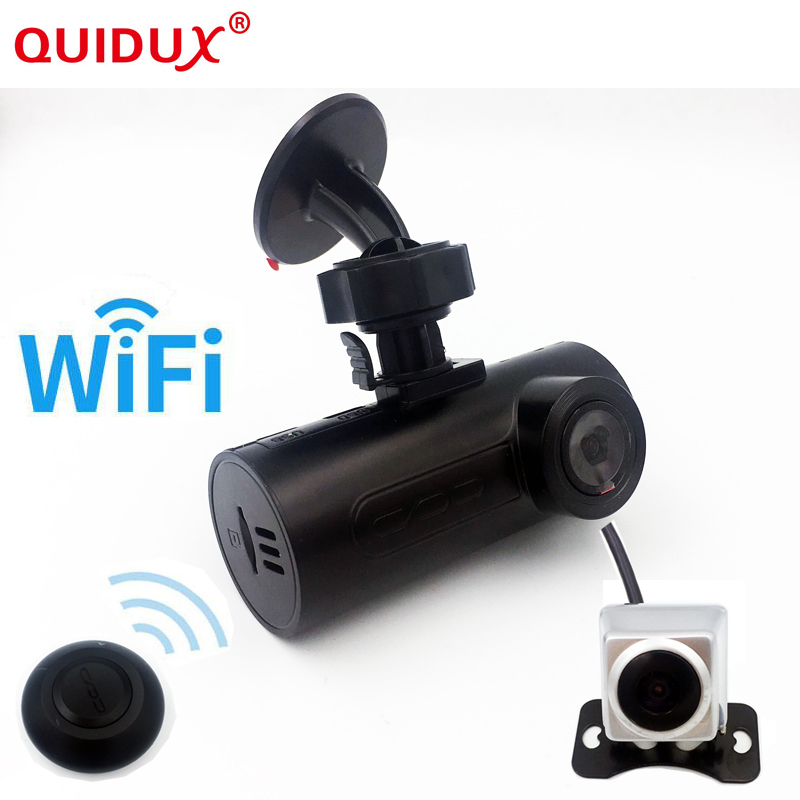 QUIDUX 2018 Mini Car OBD Car DVR Car Camera Dash Cam Wireless wifi GPS ADAS Wireless Wifi Hd Night-vision Lens Car Black Box conkim mini car suction cup holder for car cam dvr windshield stents car gps navigation accessories