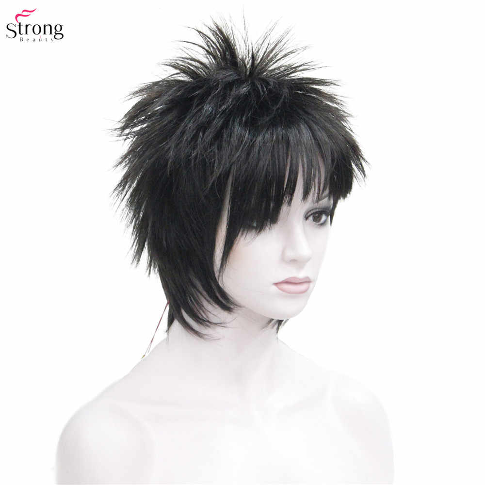 Pelo corto liso negro