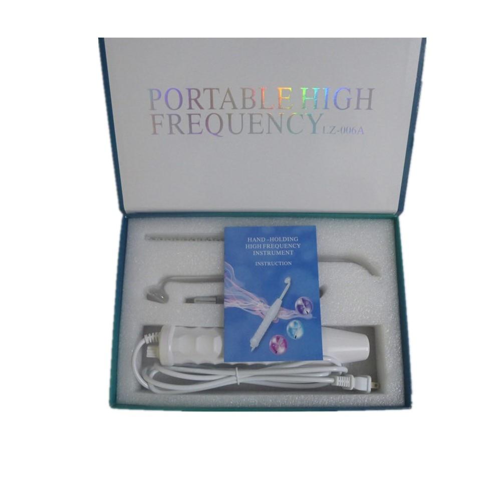 4 pièces haute fréquence soins de la peau du visage baguette dispositif outil de traitement de l'acné HF dispositif de soins des cheveux Kit professionnel avec boîte-cadeau