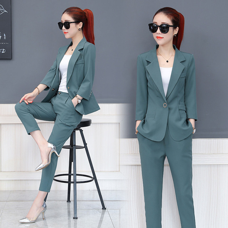 Customized The Most Popular Business Ladies Suit Two-piece Suit (jacket + Pants) Ladies Business Dress Overalls