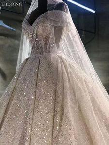 Image 2 - Vestidos De Novia Luxe Baljurk Trouwjurk Sweetheart Hals Korte Mouwen Lace Up Plus Size Wedding Groeien Bruid Jurk