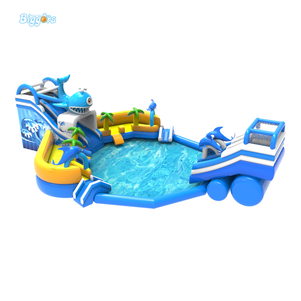 New Giant Inflatable Slide And Pool Amusement Water Park Game For Kids And Adult Play Game