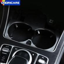 Centro Console Auto Supporto di Tazza di Acqua Decorazione del Pannello di Copertura Trim Della Lega di Alluminio Per Mercedes Benz Classe C W205 GLC X253 2015-18