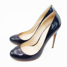 Dropshipping Summer New 12cm Pumps Sexy Pointed 16 Color High Heel Wedding Shoes Nightclub Heels Round Toe Shoes Plus Size D019A onlymaker women s 100% metal heel sexy party shoes 12cm high heel pointed toe pumps gold color shoes wedding shoes big size us14