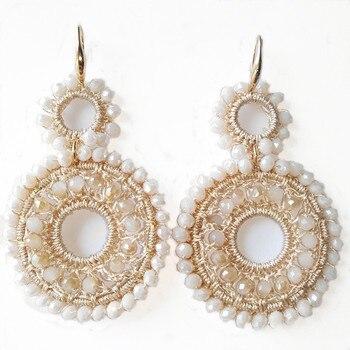 96bab1fd2e0c 2019 de alta de moda Dubai joyas de oro 585 pendientes de perlas estilo  barroco de incrustación perla pendientes de borla de la marca de lujo de  Bijoux ...