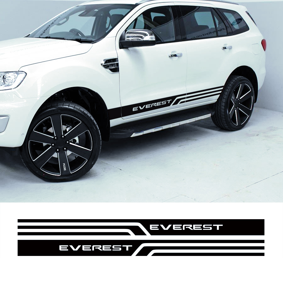 Customize for ford everest 2015 2016 suv car accessories modified decal 2pc lower rocker side door stripes graphic vinyl sticker