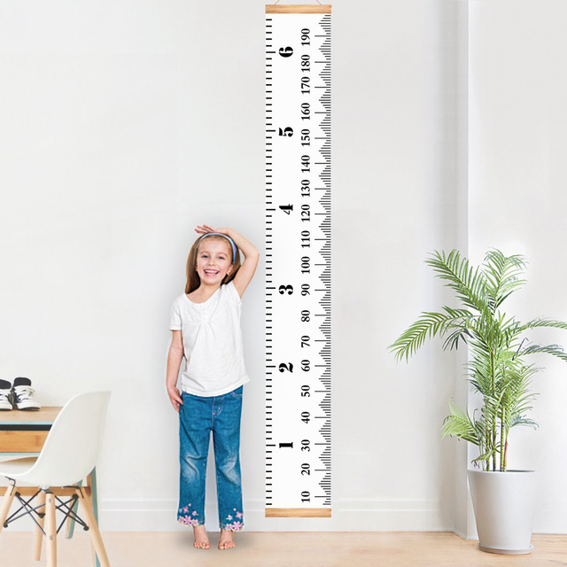 Children Kids Growth Chart Height Ruler Wall Sticker Ruler Growth
