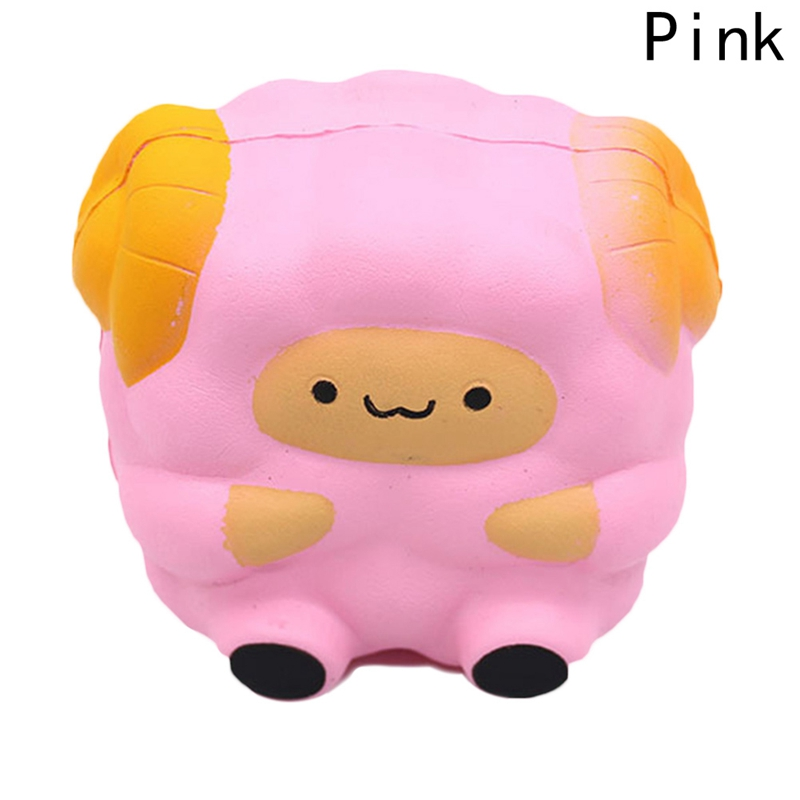 Anti-stress Novelty Toys Beautiful Pink Sheep Squeeze Stress Reliever Figurine Stress Ball toys