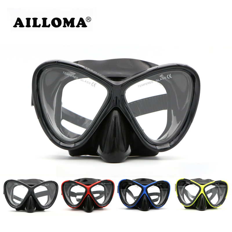 AILLOMA Wide ViSion Diving Mask Scuba Undervattens Anti Fog - Vattensporter
