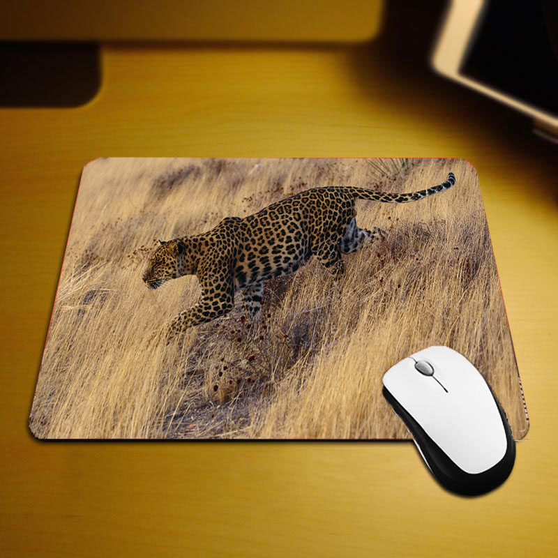 Mairuige Mini Size Table Mats Animals Leopard Pattern Mouse Pads Creative Diy customized Design for Pc Laptop Gaming mouse