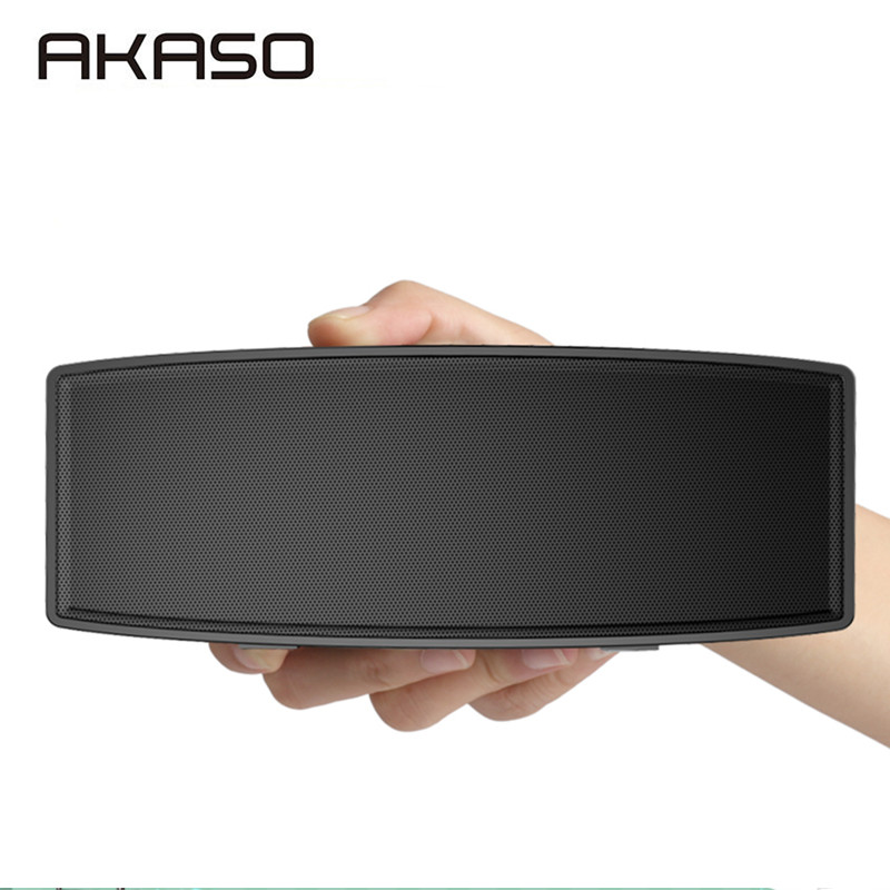 AKASO Portable Wireless Bluetooth Speaker with Dual-Driver,  Built-in Mic Support TF USB Aux 3D Stereo Music Speakers Bass