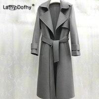 Новая звезда же стиль двусторонний кашемировое пальто, пальто женское, европейские и американские высокого класса шерстяные пальто 109