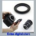 Metal de aluminio negro Macro lente de cámara adaptador inversa NIK & N AI a 49 mm 52 mm 55 mm 58 mm 62 mm 67 mm 72 mm 77 mm montaje