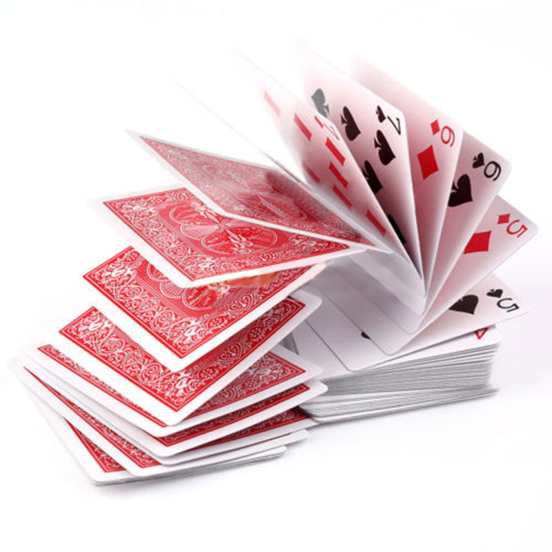 Electric Deck of Cards Prop Poker Acrobatics Waterfall Card props Paper Poker mayitr