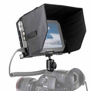 """Image 5 - Petite Cage de moniteur avec pare soleil pour Blackmagic Design moniteurs 7 """"avec pince HDMI + Kits à rotule 1988"""