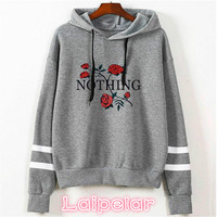 Laipelar autumn rose hoodies women Sweatshirts hoodie