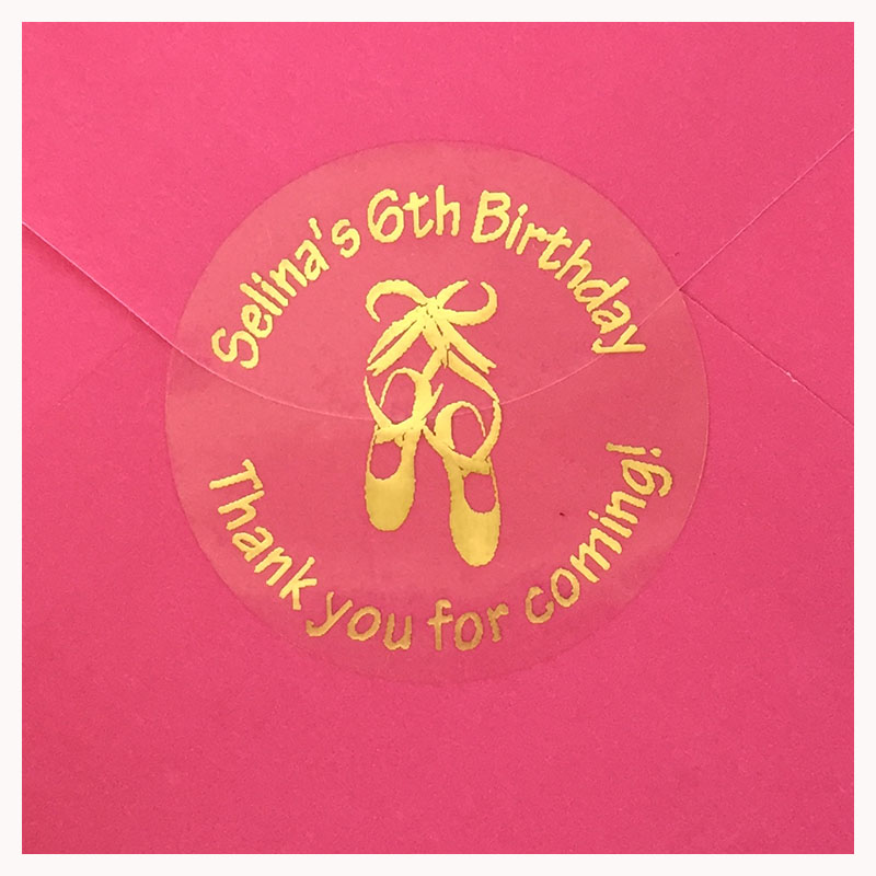 US $15.97 6% OFF|90pcs Ballerina Party Personalized Thank you Stickers ballet 6th 5th birthday gift Tags Dance Favor decor transparent labels in Gift