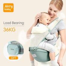 Jerrybaby 베이비 캐리어 통기성 인체 공학적 유아 캐리어 앞면 캥거루 베이비 랩 슬링 베이비 허리 의자 0 36 개월