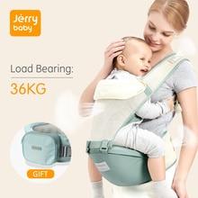 Jerrybaby portador de bebê respirável ergonômico portador infantil frente enfrentando canguru envoltório do bebê estilingue fezes da cintura do bebê 0 36 meses