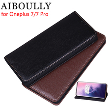"AIBOULLY Luxury Leather Flip Cover For Oneplus 7 Pro 6.64"" Mobile Stand Case For Oneplus 6 6T 7 Leather Phone Case Cover"