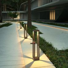Outdoor waterproof courtyard lawn lamp, outdoor landscape park villa walkway creative simple lamp
