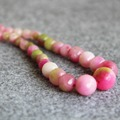 2017 New For Necklace 6-14mm Natural Pink Jade Beads Jasper  Faceted Necklace Women Girls Beads Stones Jewelry Making Design