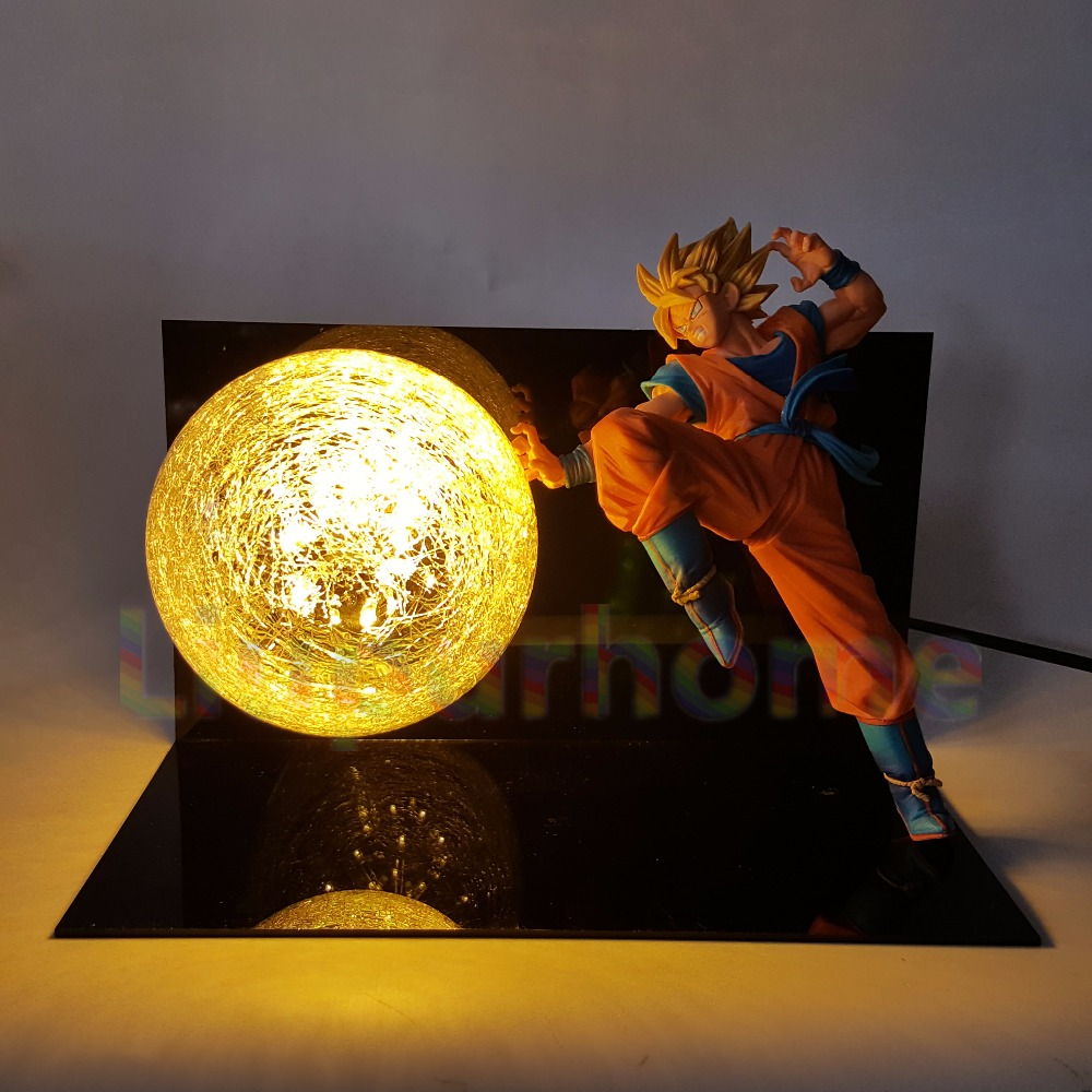Dragon Ball Z Goku Diy Led Lighting Lamp Anime Dragon Ball Z Super Saiyan Fes Dbz Son Goku God Led Night Lights Luces Navidad Led Night Lights Lights & Lighting