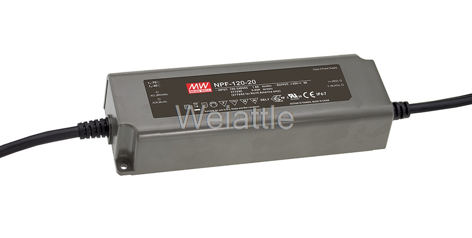 цена на MEAN WELL original NPF-120-24 24V 5A meanwell NPF-120 24V 120W Single Output LED Switching Power Supply