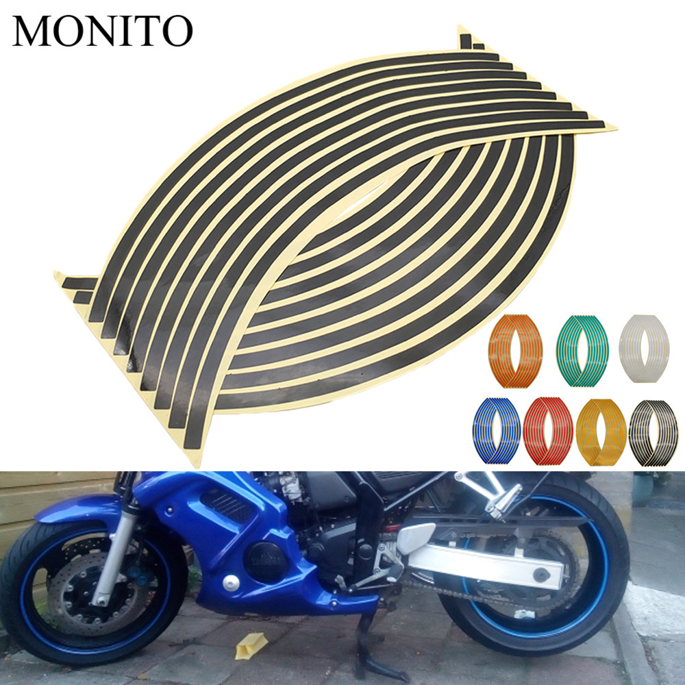 Motorcycle Wheel <font><b>Sticker</b></font> Reflective Decals Rim Tape Strip For <font><b>KTM</b></font> 250 300 350 400 <font><b>450</b></font> SX/XC/EXC/XCW/SXF/XCF/EXC-F Accessories image