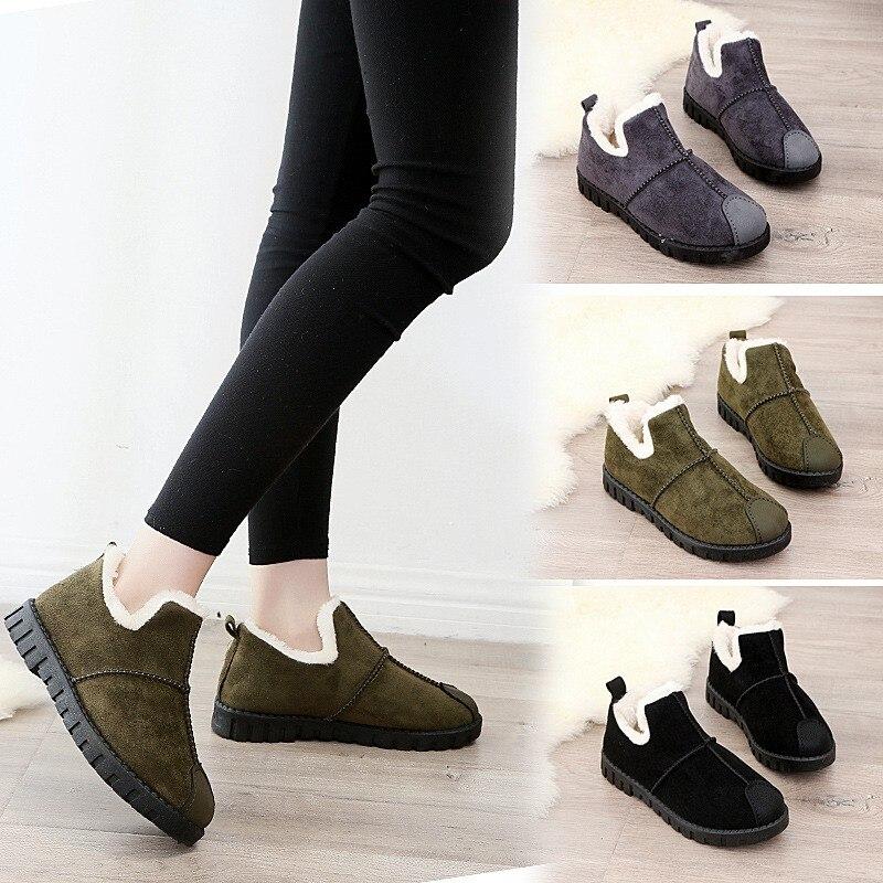 Botas de neve botas de inverno botas de inverno inverno quente botas curtas nova chegada sapatos femininos de pele de pelúcia palmilha