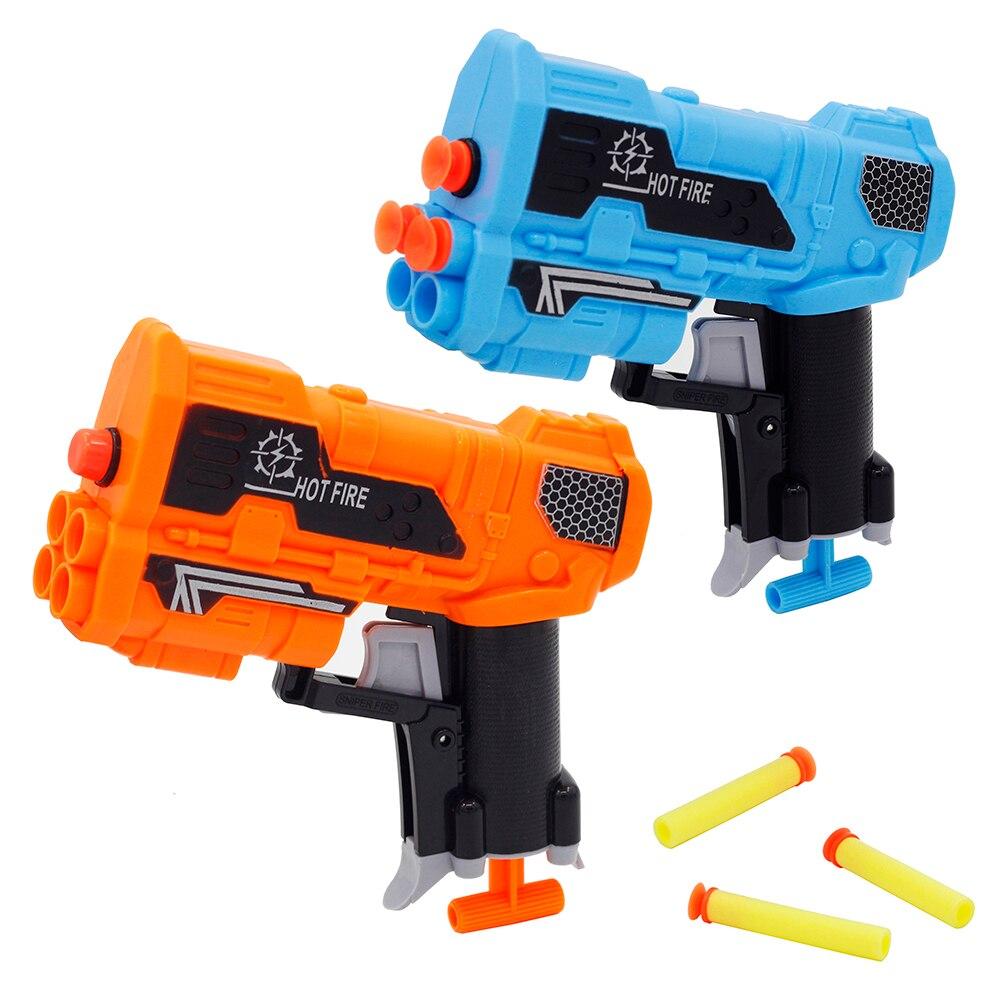 New Manual Soft Bullet Gun Suit for Nerf Bullets Toy Pistol  Long Range Dar