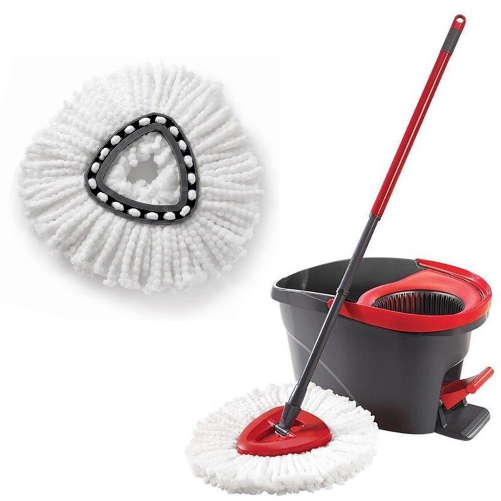 1pcs Replacement 360 Rotating Head Easy Microfiber Spinning Floor Mop Head Housekeeper Home Floor Cleaning Mop Vileda O-Cedar