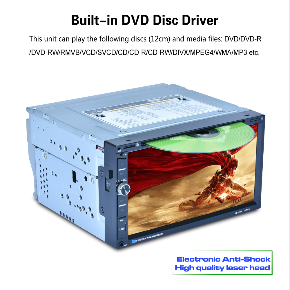 7 дюймов 2din двойной din dvd-автомобилей media player BT/FM/AM/RDS Радио тюнер dsp аудио емкостный Сенсорный экран Автомобильный Мультимедийный Плеер