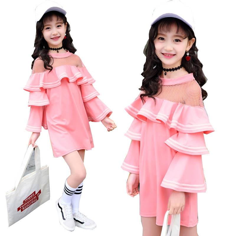 girls dresses 2018 Spring Girls Clothes for Girls Dress Kids Dresses for girls school Mesh Fashion Princess Dress 4-14 years фотообои marvel spider man 90 degree 73 х 202см